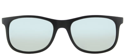 Ray-Ban Junior RJ 9062 701330 Square Plastic Black Sunglasses with Grey Flash Mirror Lens