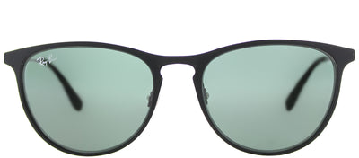 Ray-Ban Junior RJ 9538 251/71 Square Metal Black Sunglasses with Green Lens