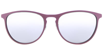 Ray-Ban Junior RJ 9538 254/4V Square Metal Pink Sunglasses with Lilac Flash Mirror Lens
