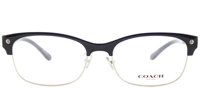 Coach HC 6098 5433 Cat-Eye Plastic Blue Eyeglasses with Demo Lens