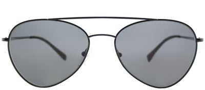 Prada Linea Rossa PS 50SS 7AX5S0 Aviator Metal Black Sunglasses with Grey Lens