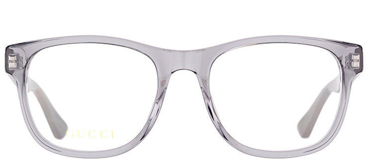 Gucci GG 0004O 004 Square Plastic Grey Eyeglasses with Demo Lens