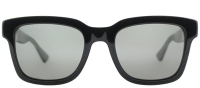 Gucci GG 0001S 006 Square Plastic Black Sunglasses with Grey Polarized Lens