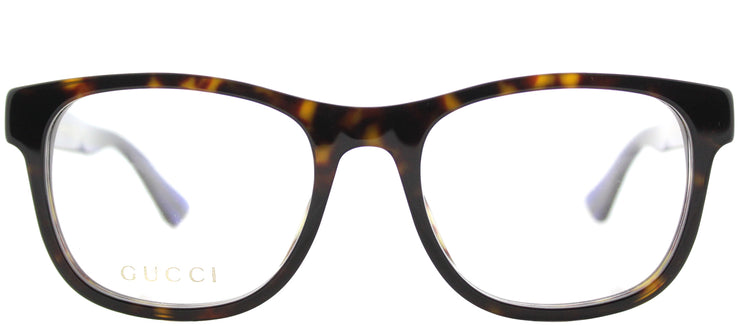 Gucci GG 0004O 003 Square Plastic Tortoise/ Havana Eyeglasses with Demo Lens