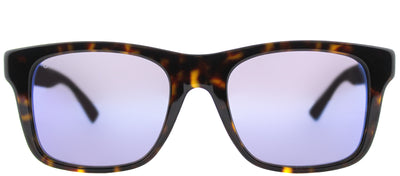 Gucci GG 0008S 003 Square Plastic Tortoise/ Havana Sunglasses with Blue Mirror Lens