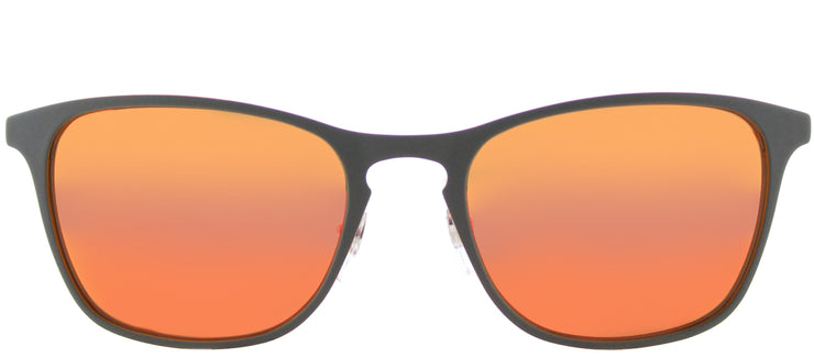 Ray-Ban Junior RJ 9539 258/6Q Square Metal Grey Sunglasses with Orange Flash Mirror Lens