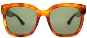 Gucci GG 0034S 003 Square Plastic Tortoise/ Havana Sunglasses with Green Lens