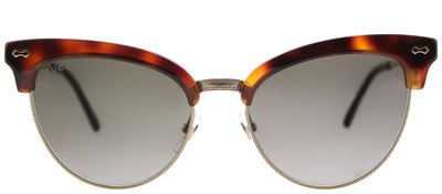 Gucci GG 0055S 002 Cat-Eye Plastic Tortoise/ Havana Sunglasses with Grey Gradient Lens