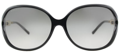 Gucci GG 0076S 002 Fashion Plastic Black Sunglasses with Grey Gradient Lens