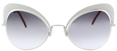 Fendi FF 0247 VK6 Cat-Eye Metal Ivory/ White Sunglasses with Blue Gradient Lens