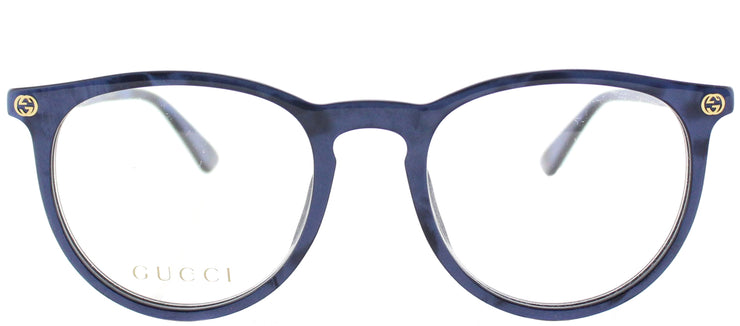Gucci GG 0027O 005 Round Plastic Blue Eyeglasses with Demo Lens