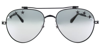Givenchy GV 7057 Stars 807 DC Aviator Metal Black Sunglasses with Grey Lens