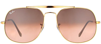 Ray-Ban RB 3561 9001A5 Aviator Metal Bronze Sunglasses with Pink Gradient Brown Lens