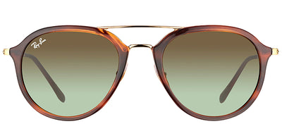 Ray-Ban RB 4253 820/A6 Square Plastic Tortoise/ Havana Sunglasses with Brown Gradient Lens