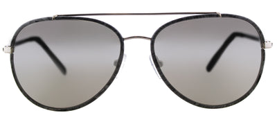 Michael Kors MK 1019 11666G Aviator Metal Grey Sunglasses with Silver Mirror Lens