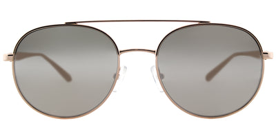 Michael Kors MK 1021 11166G Aviator Metal Pink Sunglasses with Silver Mirror Lens