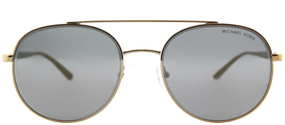 Michael Kors MK 1021 11686G Aviator Metal Gold Sunglasses with Gunmetal Mirror Lens