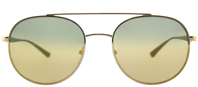 Michael Kors MK 1021 11687P Aviator Metal Gold Sunglasses with Liquid Gold Mirror Lens