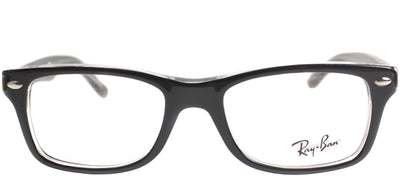 Ray-Ban Junior Jr RY 1531 3529 Square Plastic Black Eyeglasses with Demo Lens