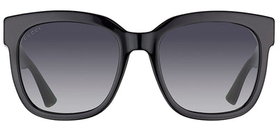 Gucci GG 0034S 002 Square Plastic Black Sunglasses with Grey Gradient Lens