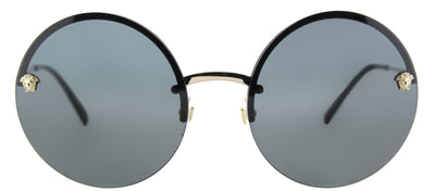 Versace VE 2176 125287 Round Metal Grey Sunglasses with Grey Lens