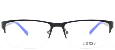 Guess GU 1879 005 Semi-Rimless Metal Black Eyeglasses with Demo Lens