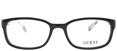 Guess GU 2558 001 Rectangle Plastic Black Eyeglasses with Demo Lens