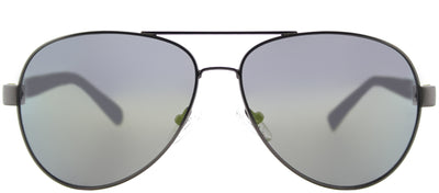 Guess GU 6862 09Q Aviator Metal Ruthenium/ Gunmetal Sunglasses with Green Mirror Lens