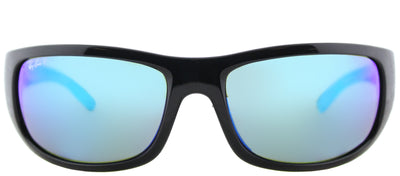 Ray-Ban RB 4283CH 601/A1 Sport Plastic Black Sunglasses with Blue Mirror Chromance Lens