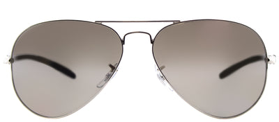 Ray-Ban RB 8317CH 003/5J Aviator Metal Silver Sunglasses with Silver Mirror Chromance Lens