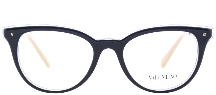 Valentino VA 3005 5028 Cat-Eye Plastic Blue Eyeglasses with Demo Lens