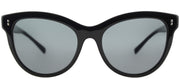 Valentino VA 4013 500187 Cat-Eye Plastic Black Sunglasses with Smoke Lens