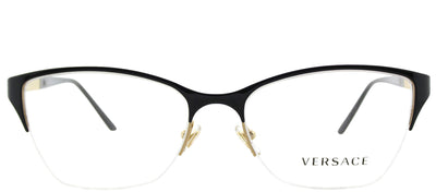 Versace VE 1218 1342 Cat-Eye Metal Black Eyeglasses with Demo Lens