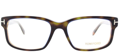 Tom Ford FT 5313 055 Rectangle Plastic Tortoise/ Havana Eyeglasses with Demo Lens