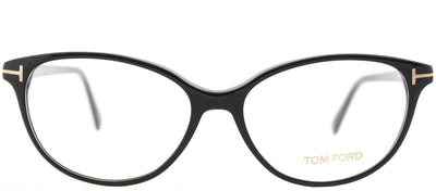 Tom Ford FT 5421 001 Cat-Eye Plastic Black Eyeglasses with Demo Lens