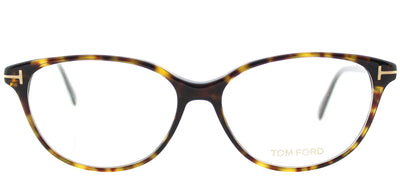 Tom Ford FT 5421 052 Cat-Eye Plastic Tortoise/ Havana Eyeglasses with Demo Lens