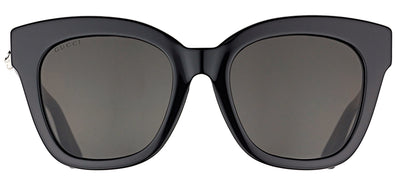 Gucci GG 0029S 001 Cat-Eye Plastic Black Sunglasses with Grey Lens