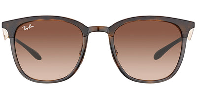 Ray-Ban RB 4278 628313 Square Plastic Tortoise/ Havana Sunglasses with Brown Gradient Lens