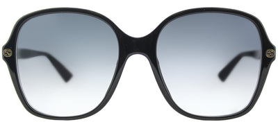 Gucci GG 0092S 001 Square Plastic Black Sunglasses with Grey Gradient Lens