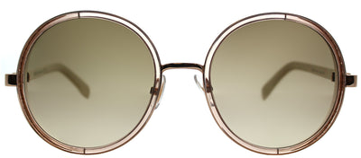 Jimmy Choo JC Andie/N 1KH Round Metal Gold Sunglasses with Brown Gradient Lens