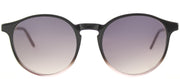 Lafont LF GenieS 2028 Round Plastic Grey Sunglasses with Grey Gradient Lens