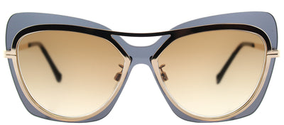 Balenciaga BA 0087 28F Butterfly Plastic Gold Sunglasses with Brown Gradient Lens