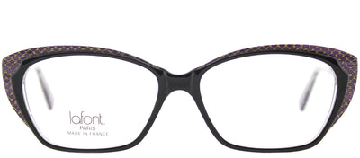 Lafont LF Valeriane 1044T Cat-Eye Plastic Black Eyeglasses with Demo Lens