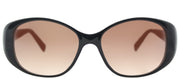 Lafont LF Vallauris 100 Cat-Eye Plastic Black Sunglasses with Brown Gradient Lens