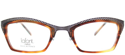 Lafont LF Variation 067 Cat-Eye Plastic Grey Eyeglasses with Demo Lens