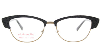Lafont LF Violette 100 Cat-Eye Plastic Black Eyeglasses with Demo Lens