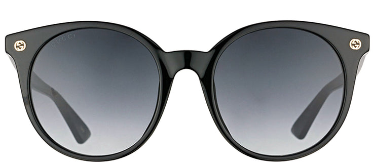 Gucci GG 0091S 001 Round Plastic Black Sunglasses with Grey Gradient Lens