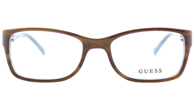 Guess GU 2406 E50 Cat-Eye Plastic Brown Eyeglasses with Demo Lens