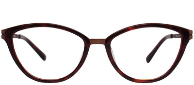 Modo MODO 4503 BWNTT Cat-Eye Plastic Brown Eyeglasses with Demo Lens