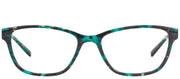 Modo MODO 6606 TRQMB Rectangular Plastic Blue Eyeglasses with Demo Lens
